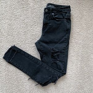Mossimo High Rise Skinny Distressed Jeans